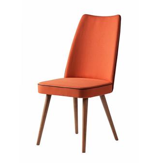 Albina Upholstered Dining Chair in Orange