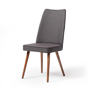 Albina Upholstered Dining Chair in Grey