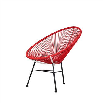 Acapulco Lounge Chair in Red