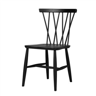 Nakashima Style Dining Chair in Black