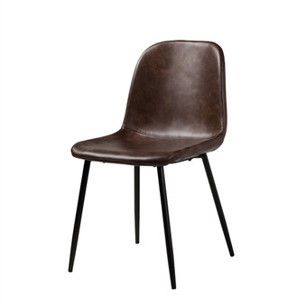 Norwich Distressed Brown Leather Dining Chair