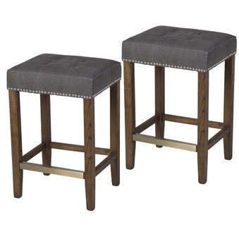 Set of 2 Ash Counter Stool in Frost Grey