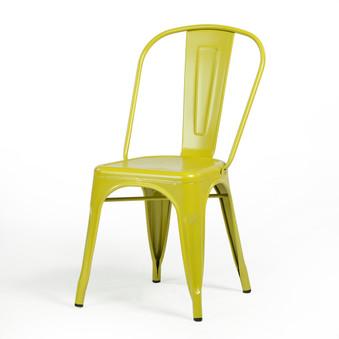 Bastille Side Chair in Mustard Green
