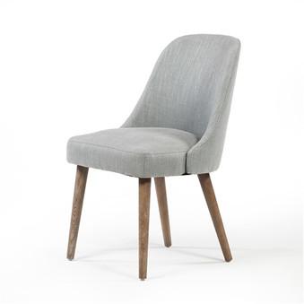 Mid Century Dining Chair - Mignonette Linen Weave