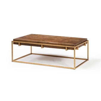 Keira Coffee Table with Reclaimed Oak Block Top