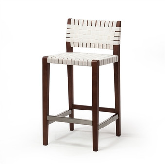 Risom Style Counter Stool in Natural White
