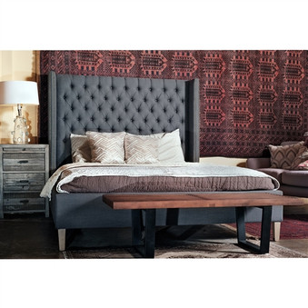 Ash Upholstered Queen Bed
