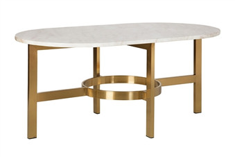 Versailles Marble Coffee Table in Antique Brass