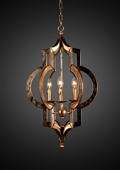 Vertigo Gold Leaf Chandelier