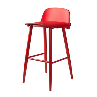 SoCo Bar Stool in Red