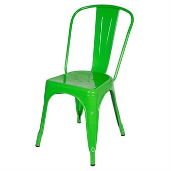 Bastille Side Chair in Green Galvanized Steel