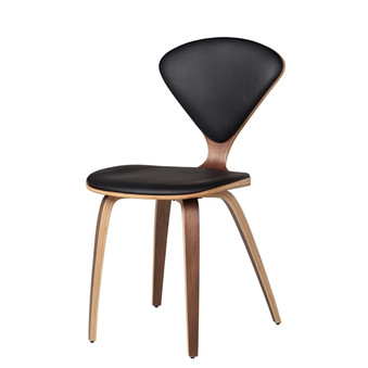 Satine Inspired Side Chair Black Leather