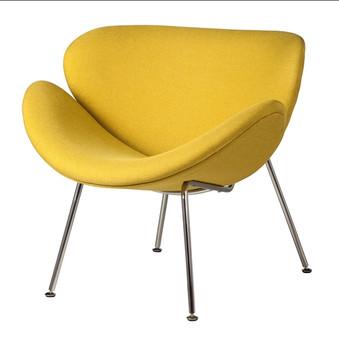 Orange Slice Chair in Yellow