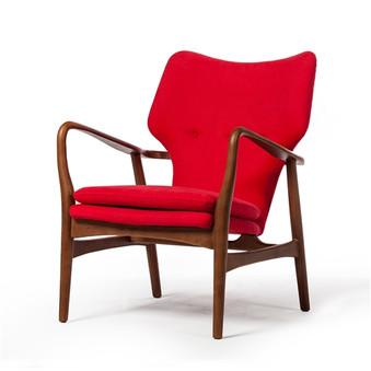Finn Juhl Style Model 1 Chair in Red