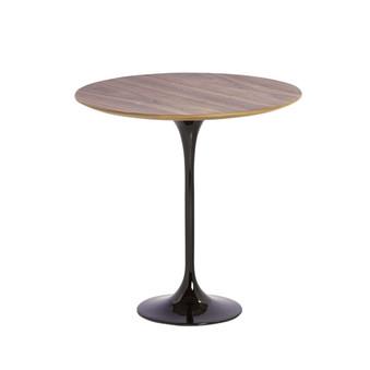 Saarinen Style Tulip Walnut Side Table