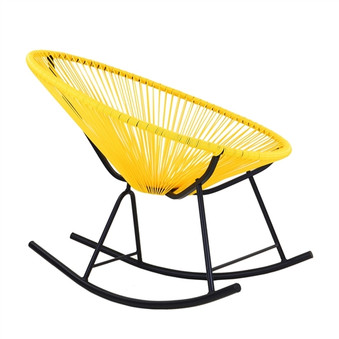 Acapulco Indoor / Outdoor Rocking Chair in Yellow