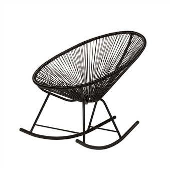 Acapulco Indoor / Outdoor Rocking Chair in Black