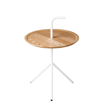 Handle Side Table in White