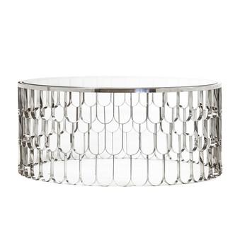 Jewel Polished Steel Coffee Table