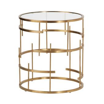 Esme Brushed Gold End Table