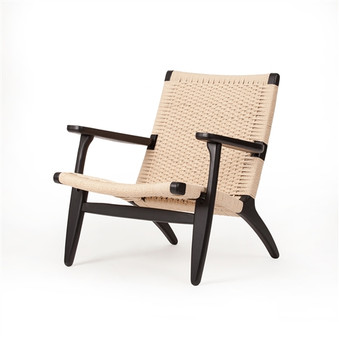 Papercord Easy Chair Black Lacquer