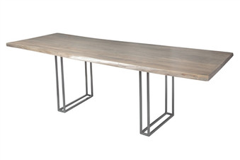 Live Edge Slab Dining Table 92 Grey Wash