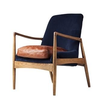 Devon Blue Velvet Occasional Chair