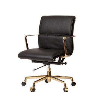 Cooper Mid-Century Modern Office Chair with Gold Base