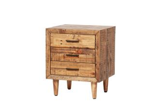 Reclaimed Pine Three Drawer Nightstand