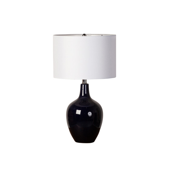 Midnight Blue Ceramic Table Lamp