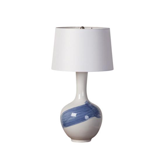 Blue Brushstroke Ceramic Table Lamp