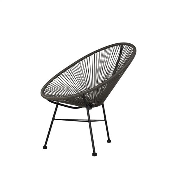 Acapulco Indoor/Outdoor Lounge Chair in Grey
