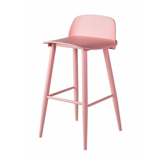 SoCo Bar Stool in Pink