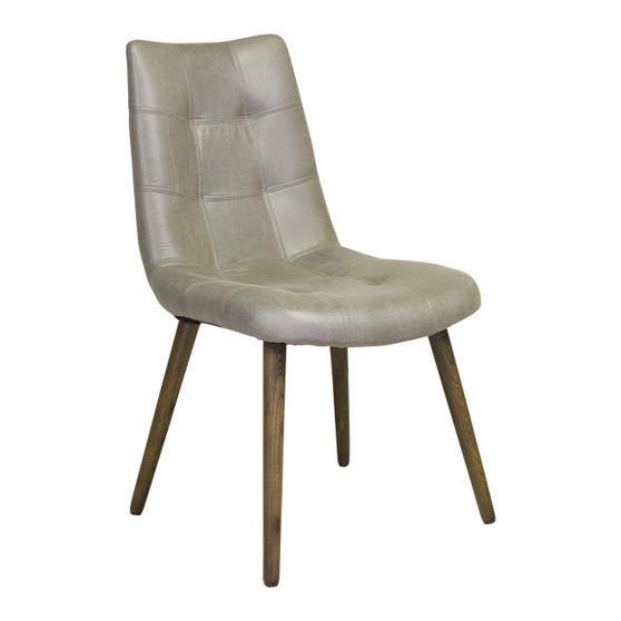 Havana Tufted Dining Chair in Grey