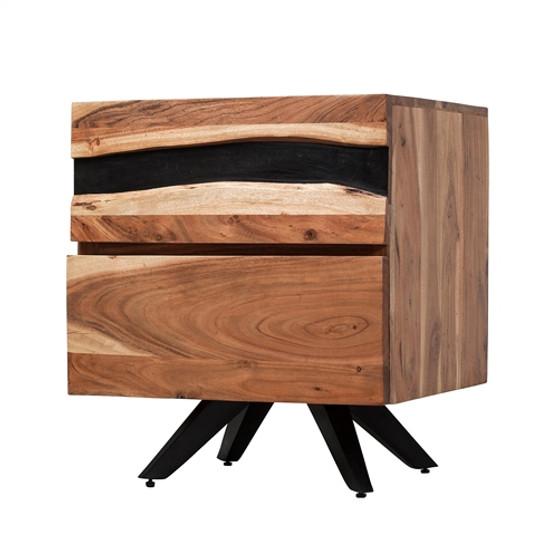 Prana Reclaimed Mango Wood Nightstand