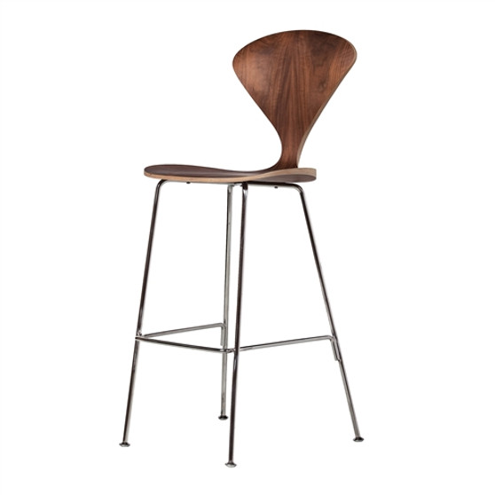 Satine Style Counter Stool With Metal Legs