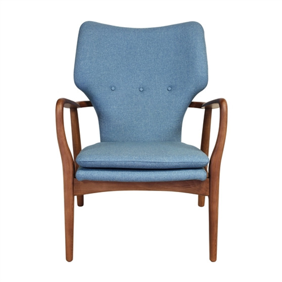 Finn Juhl Style Model 1 Chair in Blue