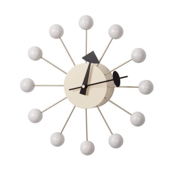 George Nelson Inspired Ball Clock - White