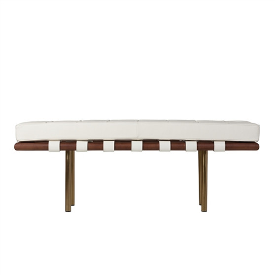 Barcelona 2 Seater Replica Bench In Champagne Gold