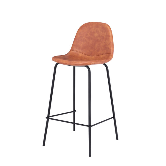 Smart Counter Stool in Cognac Brown Leather