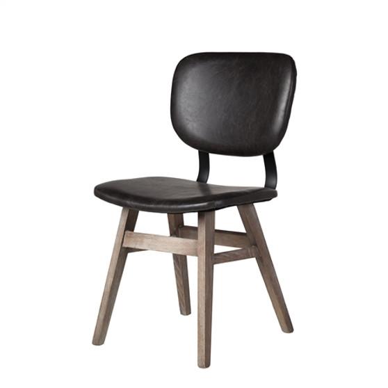 Sloan Side Chair in Vintage Black Leather