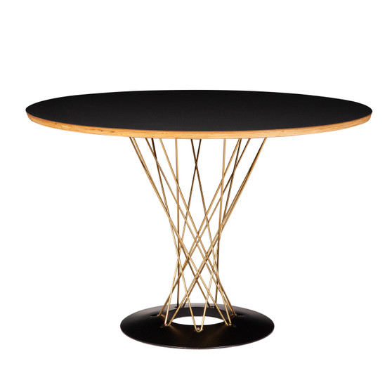 Noguchi Cyclone Dining Table in Gold 42