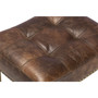 Ash Counter Stool in Vintage Brown Leather with Kick Plate
