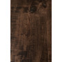 """Live Edge Slab Dining Table 84"""" Gold Legs Jacobean Stain"""