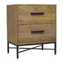 Elegant Reclaimed Wood 2 Drawer Nightstand