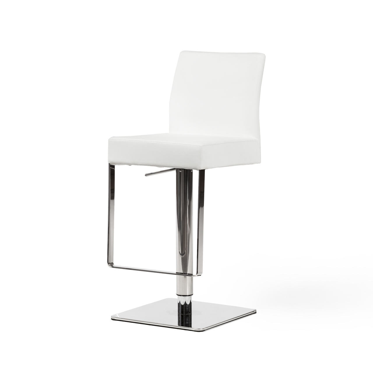 Astounding Hydraulic Adjustable Counter Stool White Leather Forskolin Free Trial Chair Design Images Forskolin Free Trialorg