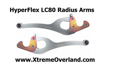 Hyperflex Radius Arms for 80 Series Landcruiser by Superior land Cruiser castor Extreme Xtreme overland