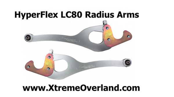 Hyperflex Radius Arms for 80 Series Landcruiser by Superior