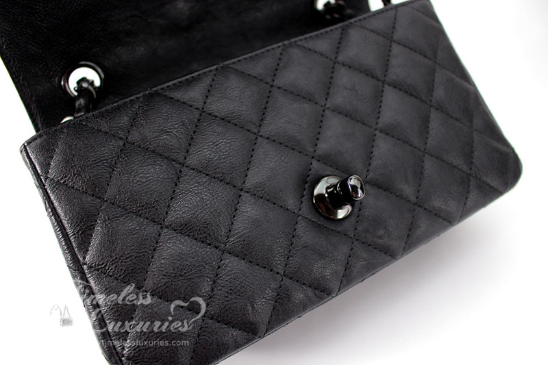 1550da2d CHANEL 17S 'So Black' Rectangle Mini Classic Flap Bag Black ...