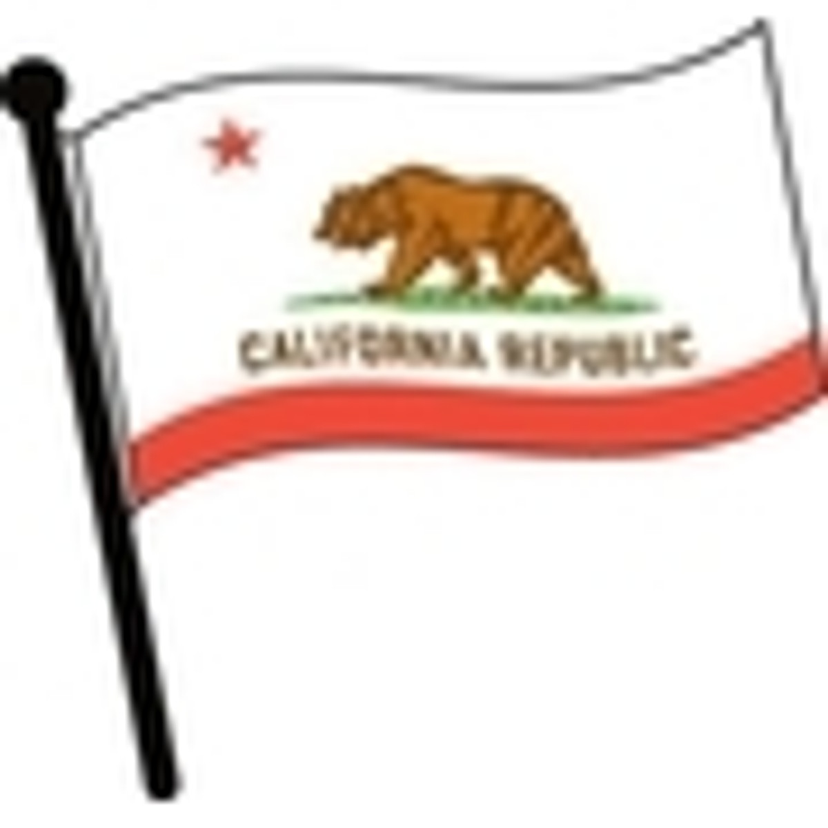 Waving State Flags Clip Art